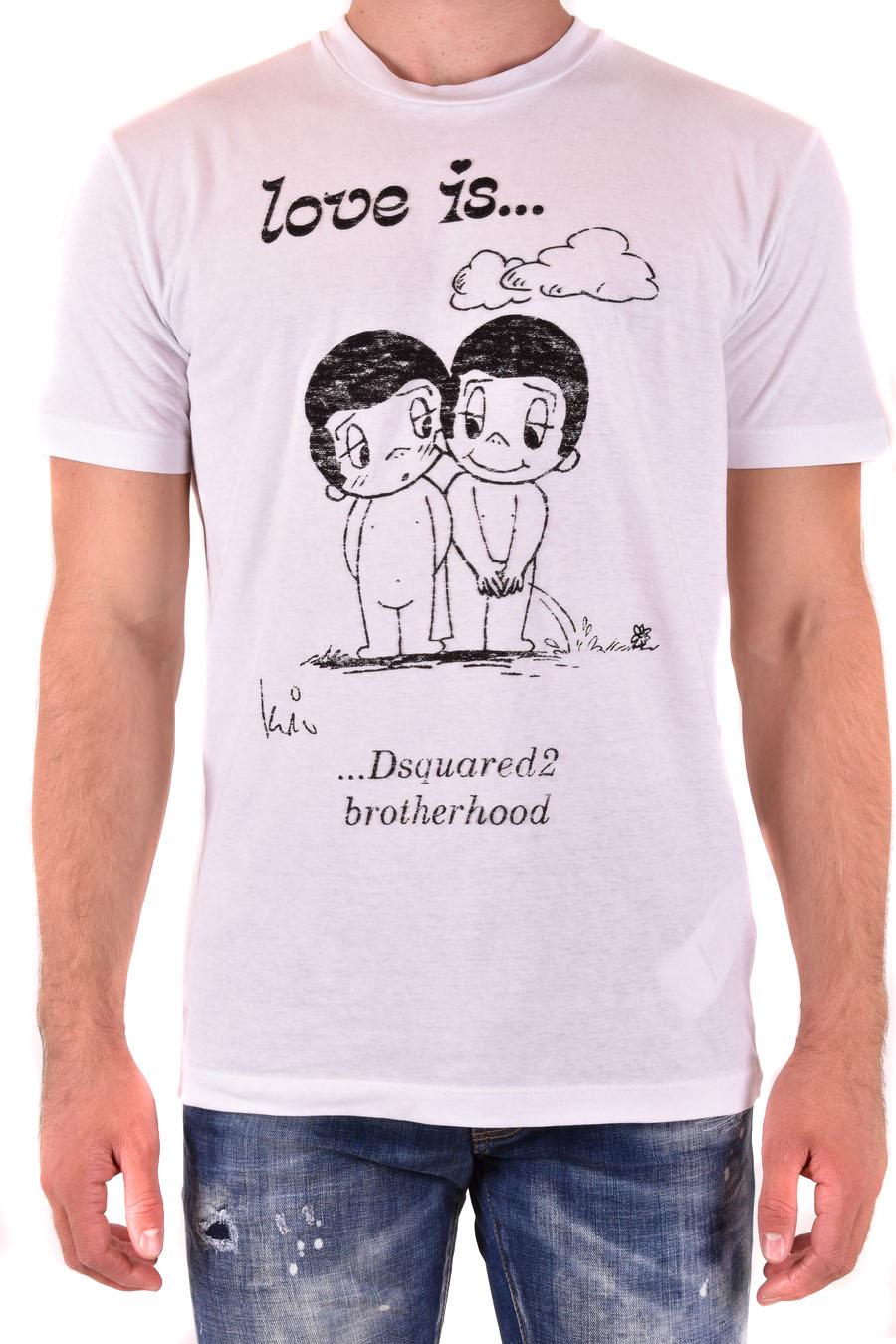 Black Size S Dsquared2 T-Shirt Herren